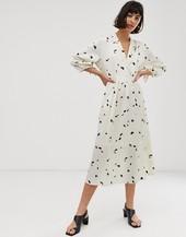 Vestido Midi Con Estampado Floral De Selected Femme