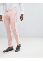 Pantalones De Traje Ajustados En Rosa De Farah