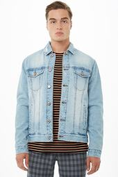 Plush-lined Denim Jacket