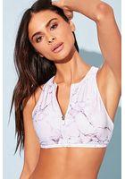 Marble Print Bikini Top