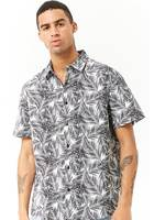 Pine Leaf Print Fitted Shirt