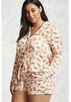 Plus Size Pineapple Pajama Set