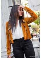 Contemporary Velvet Moto Jacket