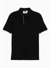 Smart Ribbed Polo Jumper