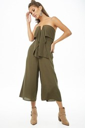 Pinstriped Tube Jumpsuit