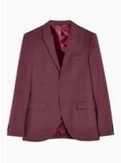 Burgundy Super Skinny Blazer