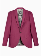 Twisted Tailor Pink Slim Fit 'ellroy' Single Breasted Blazer With Shawl Lapel