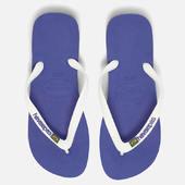 Havaianas Brasil Logo Flip Flops - Marine Blue - Eu 39-40/uk 6-7