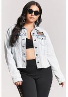 Plus Size Acdc Denim Jacket