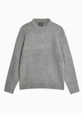 Only & Sons Grey Patch High Neck Knitted Jumper