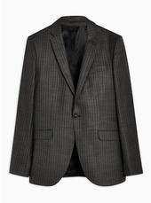 Grey Pinstripe Skinny Blazer