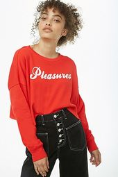 Pleasures Graphic Raw-cut Sweatshirt