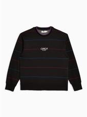 Black 'circa' Stripe Sweatshirt