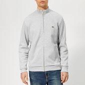 Lacoste Men's Full Zip Pique Top - Grey - 3/s - Grey