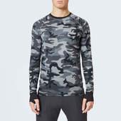 Peak Performance Men's Spirit Print Long Sleeve Top - Grey Mel Camo - S - Grey