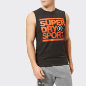 Superdry Sport Men's Core Graphic Tank Top - Black - S - Black