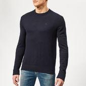 Armani Exchange Men's Cotton Cashmere Knit - Navy - S - Blue