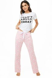 Kitten Graphic Pj Set