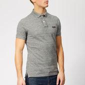 Superdry Men's Classic Pique Polo Shirt - Flint Steel Grit - S - Grey