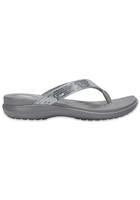 Crocs Flip Women Silver Capri V Sequin
