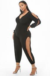 Plus Size Vented Jumpsuit