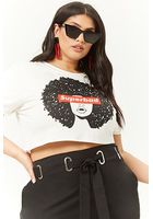 Plus Size Superbad Graphic Cropped Tee
