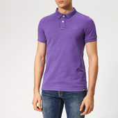 Superdry Men's Vintage Destroy Polo Shirt - Lilac - S - Purple
