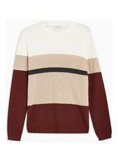Selected Homme Block Knitted Organic Cotton Jumper