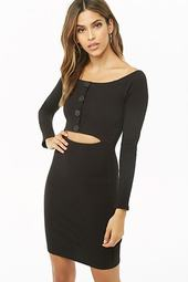 Off-the-shoulder Cutout Bodycon Dress