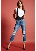 Straight-leg Distressed Jeans