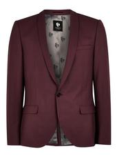 Twisted Tailor Red Slim Fit 'ellroy' Single Breasted Blazer With Shawl Lapel