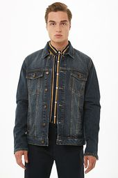 Zippered Cuff Denim Jacket