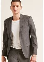 Marled Single-breasted Blazer