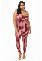 Plus Size Striped Cami Jumpsuit