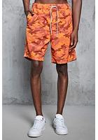 Camo Print Swim Trunks