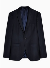 Navy Super Skinny Fit Single Breasted Blazer With Notch Lapels