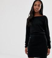 Vestido De Punto Con Falda De Tubo Y Parte Superior Holgada De Asos Design Tall